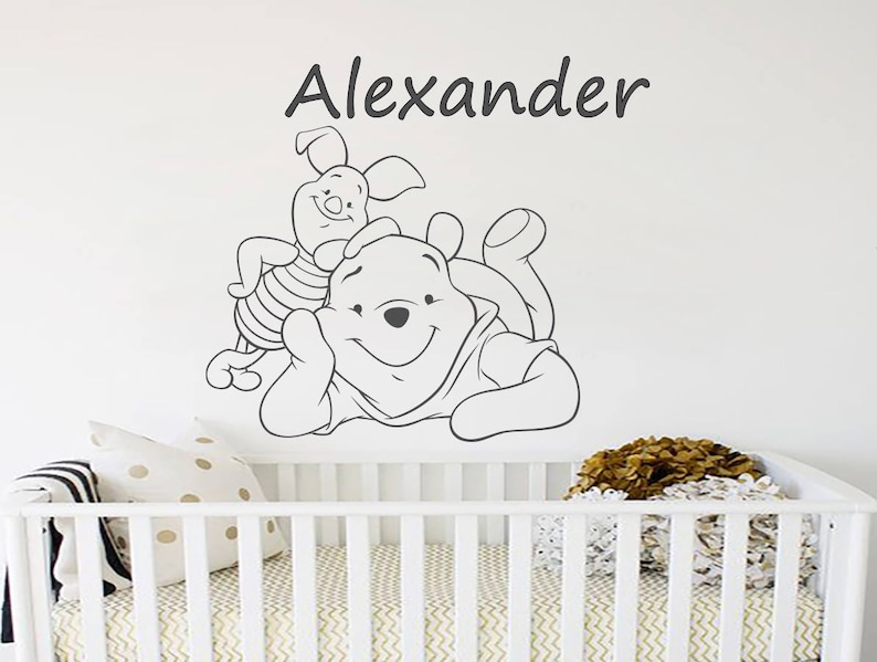name wall decals adventure winnie the pooh wall decal nursery | etsy