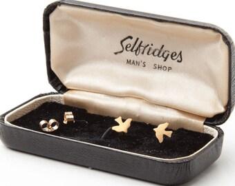 cd0607006 Gold Bird Earrings / Tiny Dainty Charm Studs / Valentine, Christmas Gift  For Her / Wedding Jewellery / Jewelry