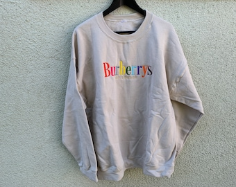 15d12cd3bc56c Vintage BURBERRYS Embroidered Sweater