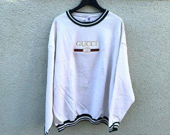 c91b07c272b55 Vintage Gucci BL Green Striped Sweater