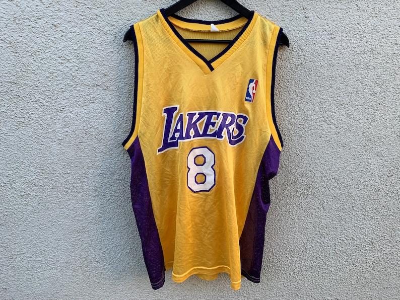best sneakers a5600 57c0c Vintage NBA Los Angeles Lakers Kobe Bryant #8 Jersey