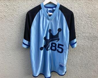 RARE! VINTAGE JNCO sport blue athletic jersey t-shirt L