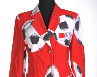 Moschino cheap and chic red jacket blazer