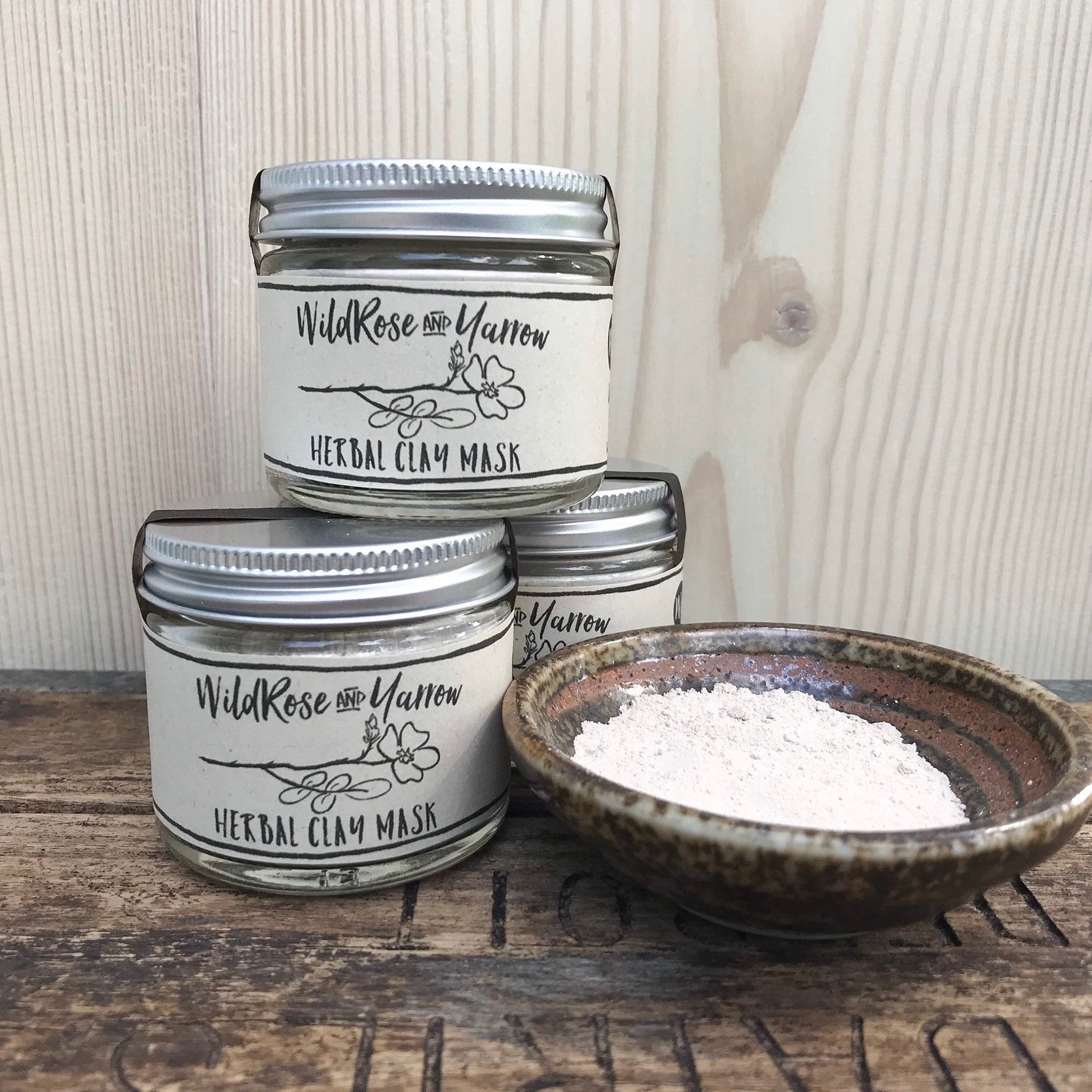 Wild Rose and Yarrow Herbal Clay Mask