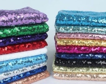 3mm Sequin Fabric 2W Stretch 130cm Wide by Meter Dresses backdrop jackets table covers purses headbands