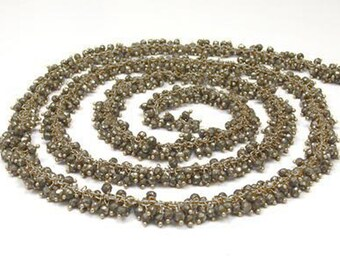 Pyrite Cluster Chain, Pyrite Rosary Chain, Pyrite Matt Chain