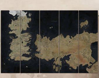 Seven Kingdoms Map Etsy