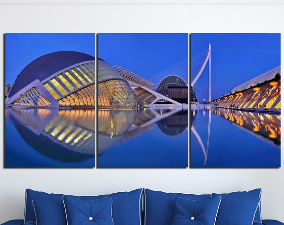 Valencia City of Arts and Sciences L'Hemisfèric Leather Print/L'Hemisfèric Print/Large Wall Art/Wall Decor/Made in Italy/Better than Canvas!
