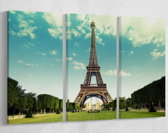 The Eiffel Tower, Paris, France Leather Print/Vintage Filter/Wall Art/Wall Decor/Extra Large Print/Multi Panels Print/Better than Canvas!