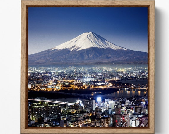 Mount Fuji, Fujiyama, Japan Leather Print/Mount Fuji Extra Large Print/Japan Multi Panel Print/Nature Print/Better than Canvas!