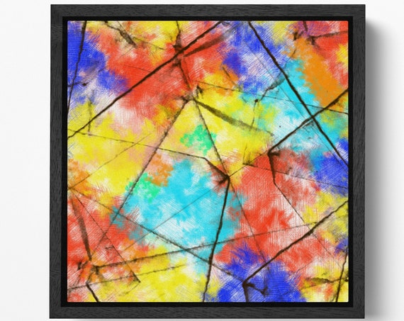 Abstract Color Art Leather Print/Wall Art/Wall Decor/Extra Large Print/Artwork/Multi Panel Print/Better than Canvas!
