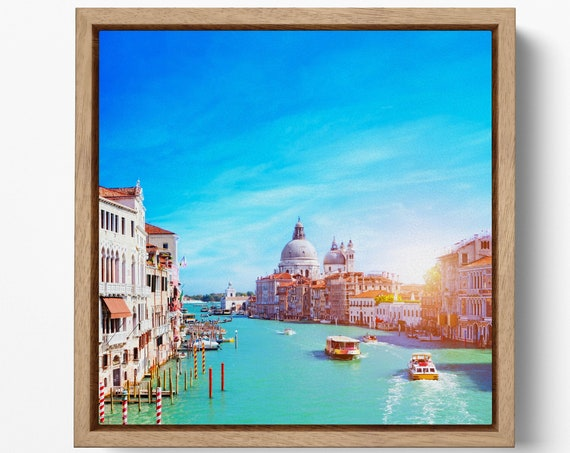 Venice Grand Canal Leather Print/Gran Canale Venezia Canvas/Extra Large Print/Italy Picture/Large Wall Art/Big Size Print/Better than Canvas