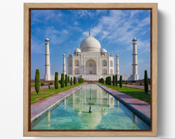 Taj Mahal Large Leather Print/Large Taj Mahal Print/Large Wall Art/Larger Wall Decor/India Print/Made in Italy/Better than Canvas!