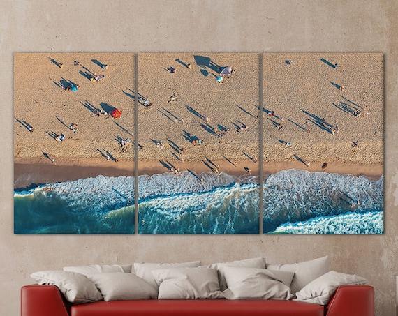 Santa Monica Aerial View Leather Print/Wall Art/Multi Panels Print/Multi Pieces Print/LA Print/Better than Canvas!