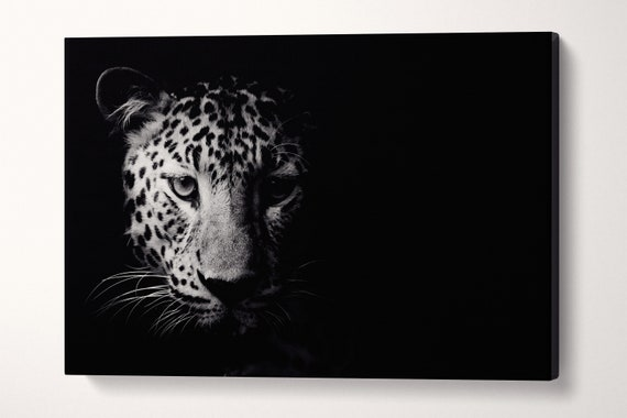 Close Up Black and White Leopard Leather Print/Black and White Print/Large Wall Art/Large Wall Decor/Made in Italy/Better than Canvas!