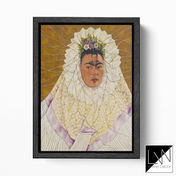 Frida Kahlo Self-Portrait as a Tehuana REPRODUCTION Canvas Leather Print