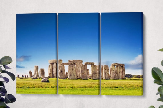 Stonehenge Leather Print/Stonehenge Large Print/Multi Panel Print/Stonhenge Large Canvas/Large Wall Art/Extra Large/Better than Canvas!