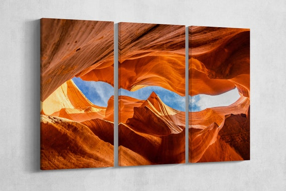 Lower Antelope Canyon framed canvas leather print