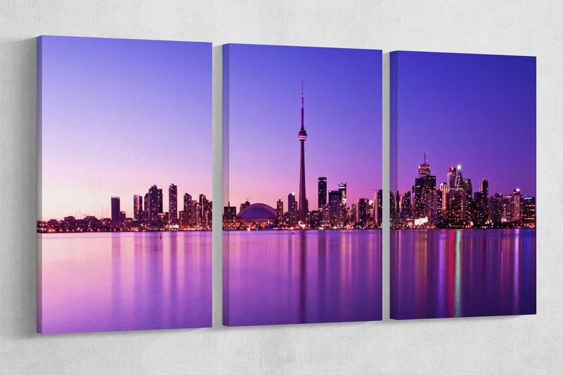 "Toronto Skyline Leather Print/Large Toronto Print/Large Wall 3P 72""x36""|180x90 cm"