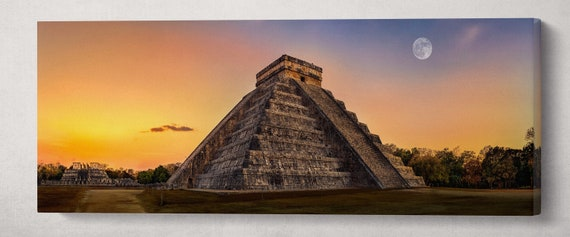 Chichen Itza, Yucatan, Mexico Wall Art Eco Leather Print