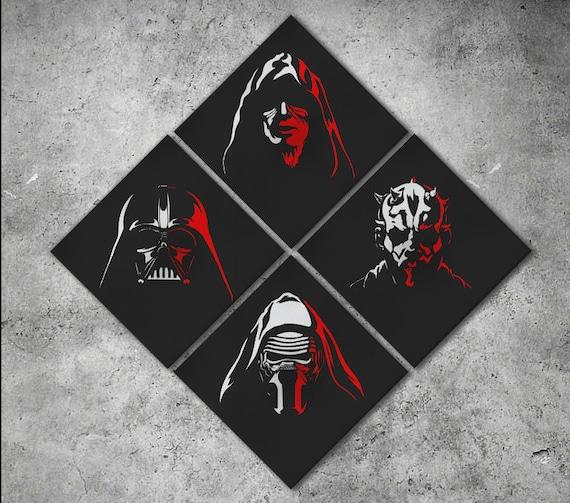 Star Wars The Dark Side Artwork Print/Star Wars Print/Star Wars Decor/Star Wars Art/Multi Panel Print/Darth Vader Print/Better than Canvas!