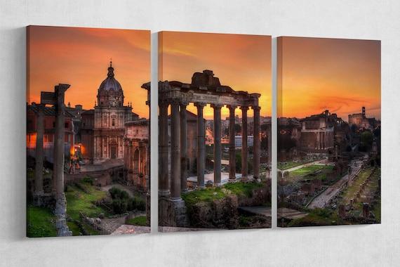 Forum Roman, Rome, Italy, Leather Print/Rome Print/Extra Large Print/Multi Panel Print/Italy Wall Art/Rome Wall Art/Better than Canvas!