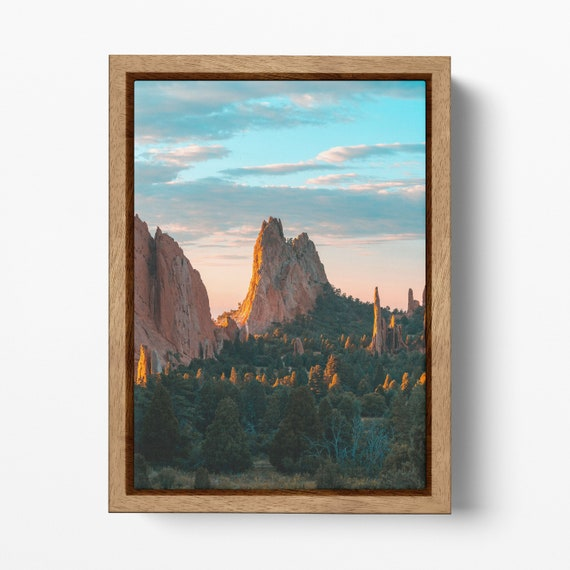 Garden of the Gods, Colorado Springs framed canvas leather print
