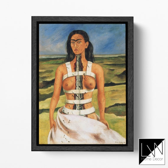 Frida Kahlo The Broken Column REPRODUCTION Canvas Leather Print
