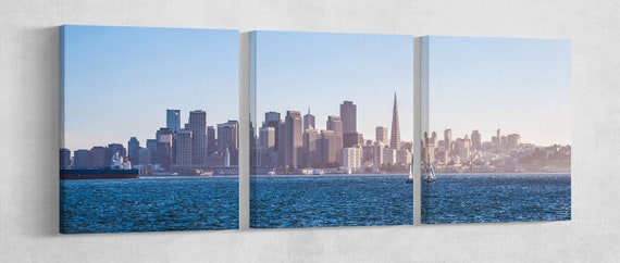Panoramic View San Francisco Leather Print/Large San Francisco Print/Large Wall Art/Large Wall Decor/Made in Italy/Better than Canvas!