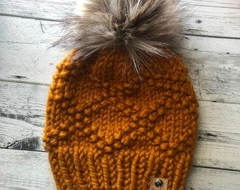 Winter hat, womens beanie, knit beanie, knit pom pom hat, wholesale, womens knit hat, womens winter hat, womens toque