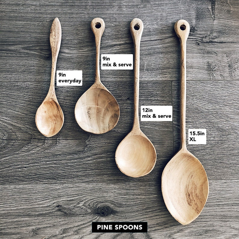 Handmade wooden cooking mixing and serving kitchen spoons image 0