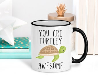 Turtle Gift You Are Turtley Awesome Coffee Mug For Her Lover Valentines Day Idea Him Best Friend