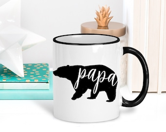 Papa Bear Mug, Gift for Dad, Dad Coffee Mug, New Dad Gift, New Parent, Fathers Day Gift, Baby Shower Gift, Gift for Daddy
