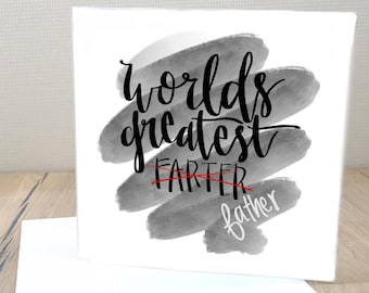 b5956e8a0 World's Greatest 'Farter' | Father's Day Card