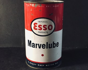 Esso Marvelube oil can - 1 quart oil can - never opened