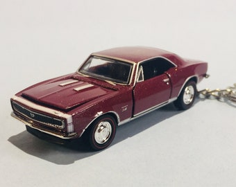 3cd5bcab 1967 Camaro SS keychain - Novelty keychain made from 1/64 scale die cast car