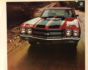 "7ccdc012a18 1970 Chevelle SS Original car advertisement 8"" x 11"""