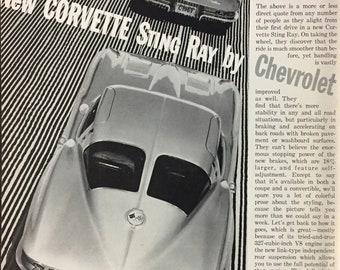 Corvette art | Etsy