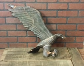 Antique Brass Weather Vane Eagle Topper - Missing one wing