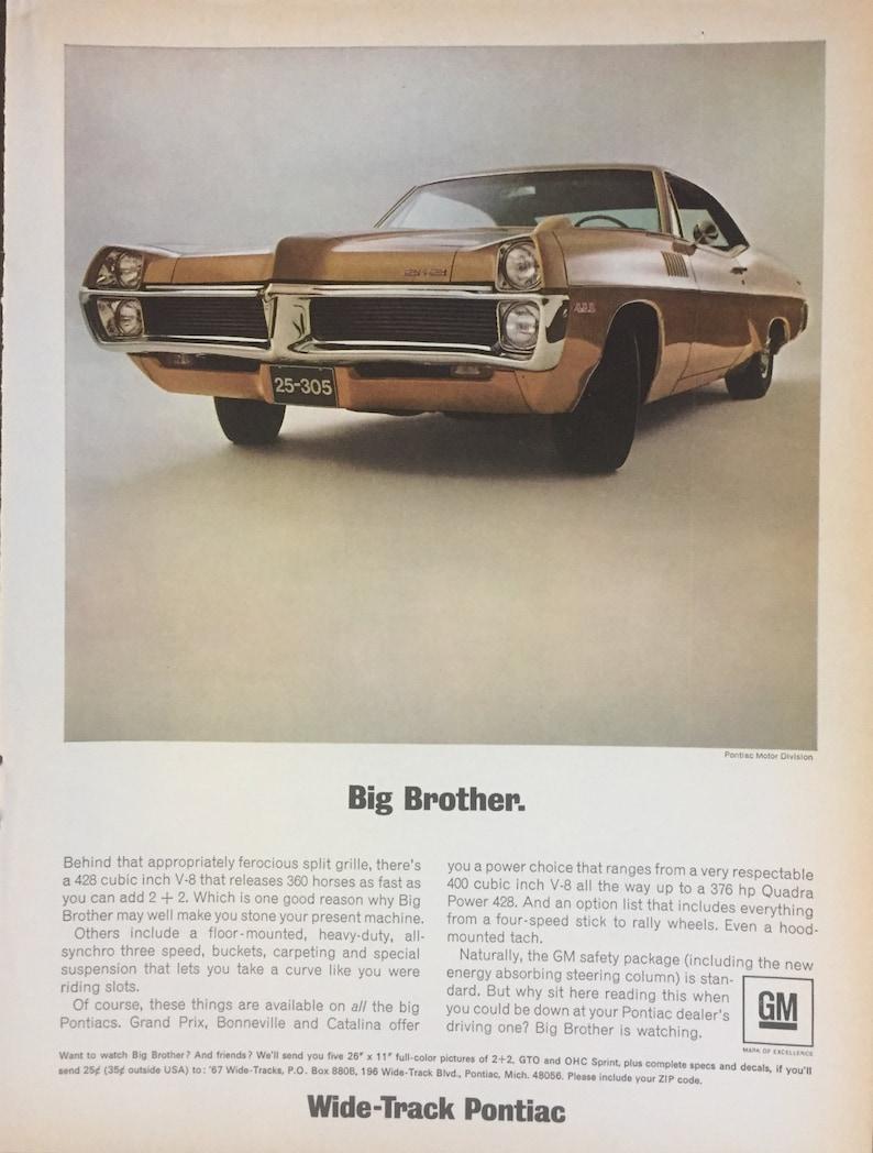 1967 Pontiac Catalina 2+2 428 cu in  360 Hp-Original Magazine Ad