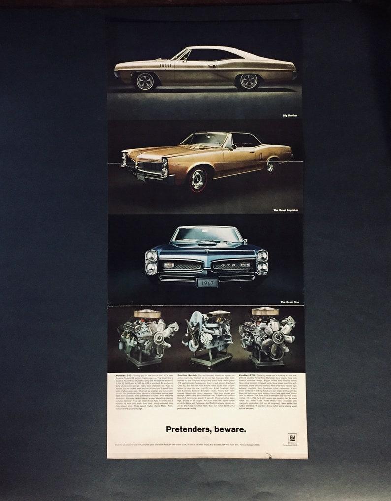 1967 Pontiac GTO-1967 Pontiac Sprint-1967 Pontiac 2+2 - Three Page Original  Magazine ad
