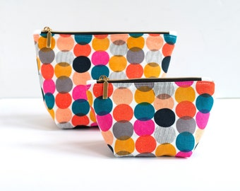 Zippered Pouch, Zippered Bag, Cosmetic Bag, Boxed Bottom Bag