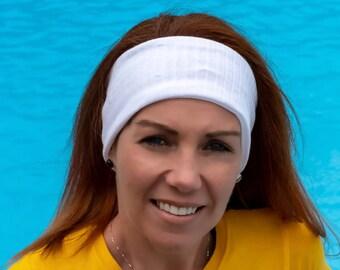 Headband Thin in cotton   Yoga headband Fashion accessory white