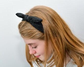 Headband tie on in soft cotton  Yoga headband Fashion accessories