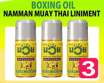 Namman Muay Thai BOXING OIL LINIMENT 120ml Muscular Muscle Pain Relief 120cc