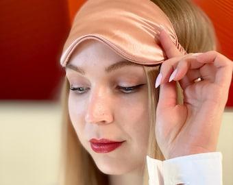 Premium 8-layers 22mm Mulberry Silk Sleep Mask | Pure Organic Silk Eye Mask | Soft and Comfortable |  Machine Washable | Anti-Aging Mask
