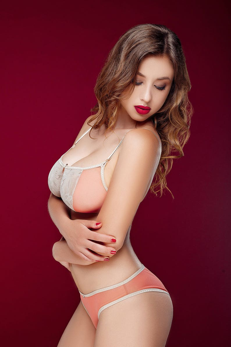af83009d41 OLIVIA lingerie set - sheer lingerie