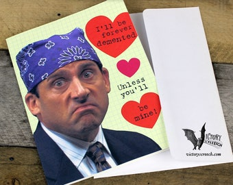 Dwight Schrute Valentine Card Printable The Office Funny Etsy