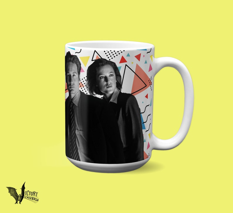 X files MUG | fox Mulder Scully want to believe mysteries sci-fi duchovny  gillian anderson Agents alien supernatural TV gifts for dad HER