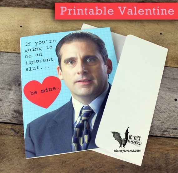 Michael Scott Valentine Card Printable The Office Funny Etsy